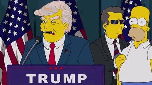 'Los Simpson' predijeron la carrera presidencial de Donald Trump