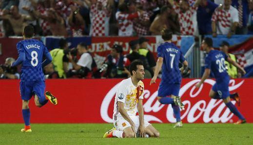 Eurocopa: Croacia apuntilla a una Roja vulgar y la manda por el lado difícil del cuadro (2-1)