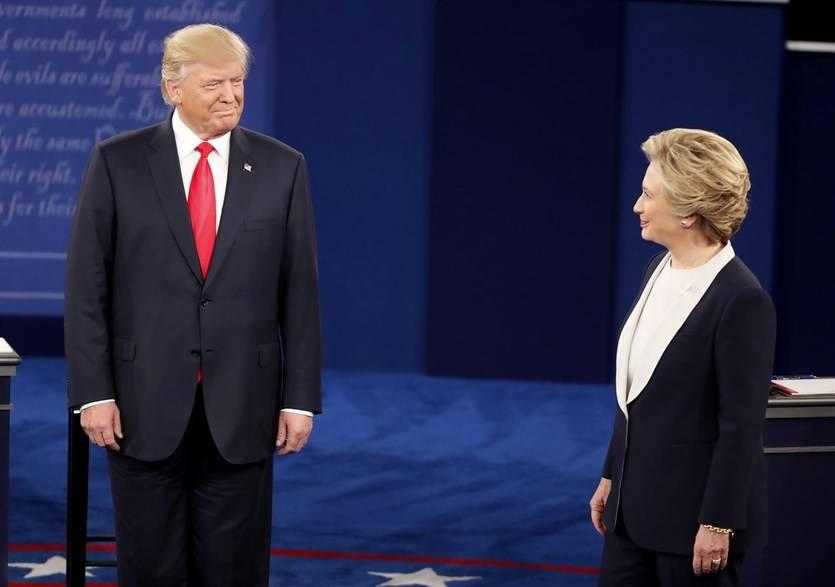 Hillary Clinton vuelve a batir al ultra Trump en un tenso segundo debate