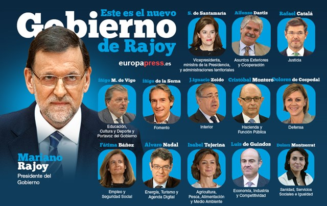 La composición del nuevo Gobierno de Rajoy, ministro por ministro