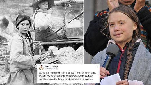 ¿Es Greta Thunberg una misteriosa viajera en el tiempo?: las redes explotan