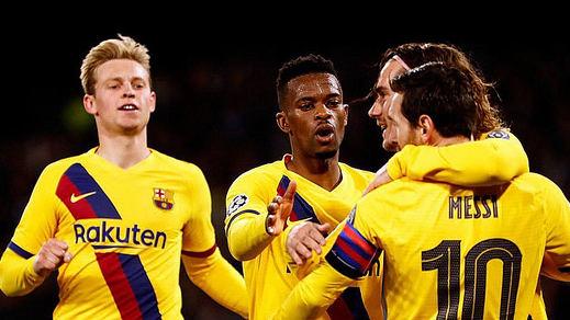 Griezmann salva al Barça en Nápoles pero el equipo regresa con 3 bajas (1-1)