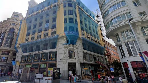 Fallece un obrero en las obras del hotel de Cristiano Ronaldo en la Gran Vía de Madrid