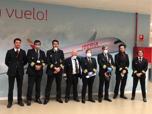 Vuelo de Iberia a China para recoger material sanitario