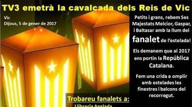 Cabalgata de reyes independentista en Cataluña: así quieren llenar de esteladas la fiesta de los niños