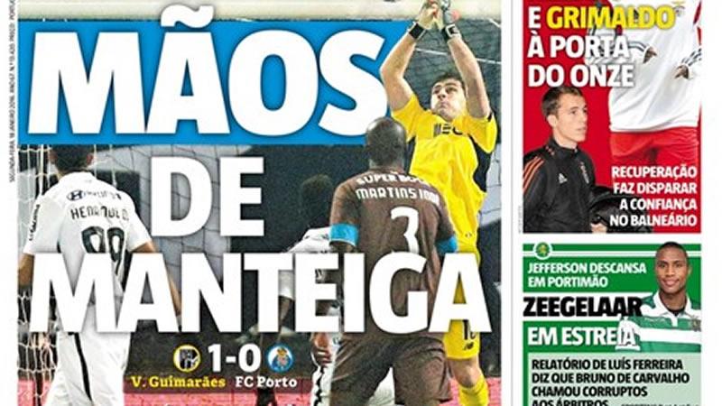Portugal se mofa de Casillas, que será titular en la Eurocopa con La Roja, tras una nueva 'cantada' con el Oporto