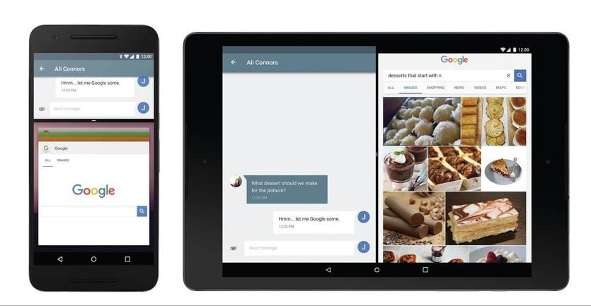 Primeras imágenes del Android N con la pantalla dividida