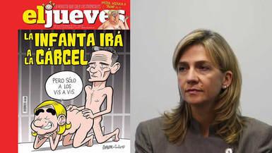 'El Jueves' dedica la portada más provocadora a la infanta Cristina y Urdangarín: un vis a vis en prisión