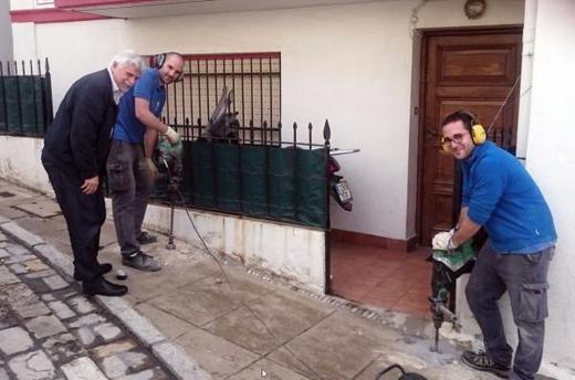 La 1ª fase del tratamiento contra la plaga de termitas en Getxo (Bizkaia) a punto de finalizar