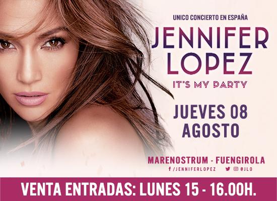 Jennifer Lopez celebra sus 50 años con un concierto único en Fuengirola este 8 de agosto