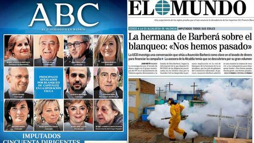 Barberá y el PP valenciano centran la atención de los kioscos de hoy