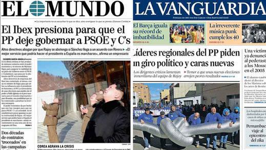 La muerte política del PP de Rajoy, en los kioscos de hoy