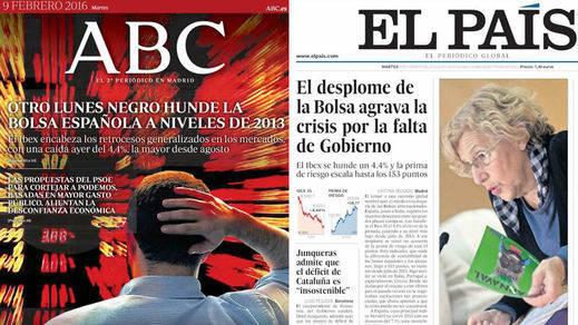 La alarma bursátil, el regreso de Rajoy, los titiriteros y el éxito de Sánchez, en los kioscos de hoy