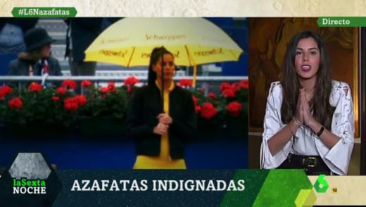 La azafata que ganó el pulso al sexismo del torneo Godó relata su tortura: 'Bajo la lluvia y con un paraguas, cerrado, en la mano'