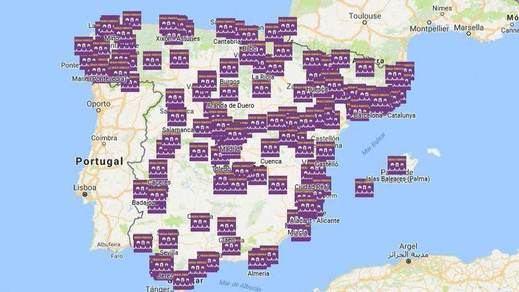 8-M: mapa de las movilizaciones feministas que tiñen el país de morado