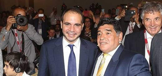 Revolución en la FIFA: Maradona podria ser vicepresidente si Ali bin al-Hussein gana las elecciones
