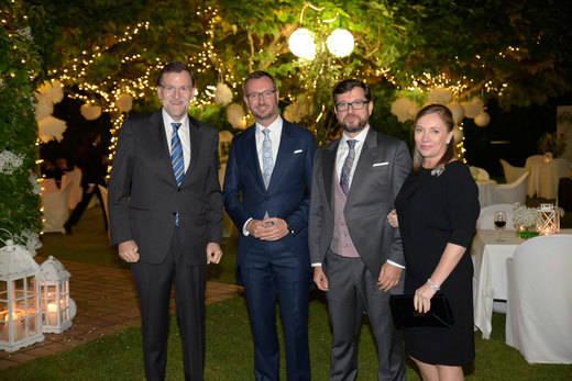 Rajoy, Santamaría, Cospedal y Alonso brindan con Maroto en la celebración de su boda en Vitoria