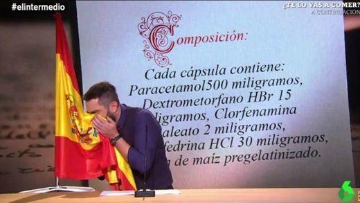 Dani Mateo, imputado por su 'sketch' de la bandera de España