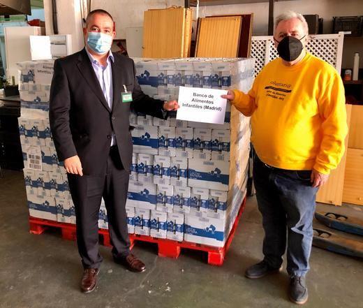 Mercadona dona 6.300 litros de leche al banco de alimentos infantiles