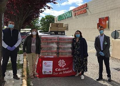 Mercadona dona más de 5.700 kilos de productos de primera necesidad a Cáritas de Griñón y al comedor social 'Avalso' de Valdemoro
