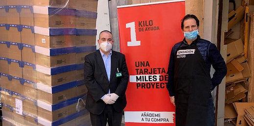 Mercadona dona a la 'Fundación Altius - 1 kilo de ayuda' 3,9 toneladas de alimentos de primera necesidad