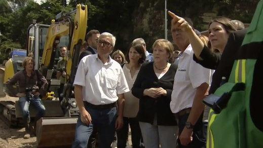 Merkel promete millonarias ayudas por las inundaciones, que dejan al menos 190 muertos en Alemania y Bélgica