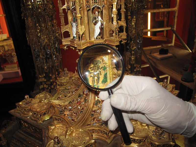 Finaliza el estudio de la custodia de la Catedral de Toledo para ser restaurada