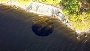 Momento en el que se ve al monstruo del Lago Ness