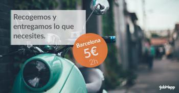 jobMapp amplía su servicio de mensajería por 5 euros en moto eléctrica a Barcelona