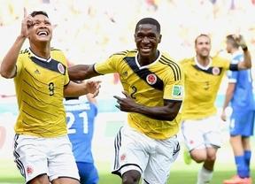 Colombia no echa de menos a 'matador' Falcao y golea fácilmente en su debú a una débil Grecia (3-0)