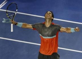 Nadal arrasa con el calor y con los rivales en Australia: 6-1, 6-2 y 6-3 a Monfils y ya está en octavos
