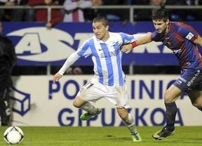 El Málaga acaba con el sueño del Eibar (4-1) en la segunda mitad