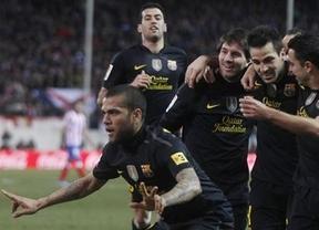 'Supermessi' vuelve a sacar las castañas del fuego al Barça ante un Atlético respondón (1-2)