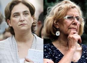 Terremoto de cambios en los sondeos a pie de urna: Carmena gana en Madrid y Colau en Barcelona