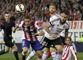 Atlético y Valencia igualan en intensidad y en un marcador que no les sirve a ninguno para sus objetivos (1-1)