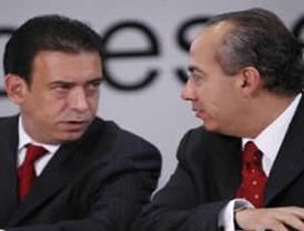Recibe el presidente FCH en Los Pinos al nuevo dirigente del PRI Humberto Moreira
