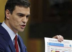Pedro Sánchez chafó su buen estreno en el debate con un error de 'novato' que Rajoy tildó de