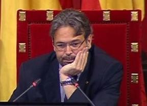 El expresidente del Parlament de Cataluña 'quema' neumáticos a lo Fernando Alonso