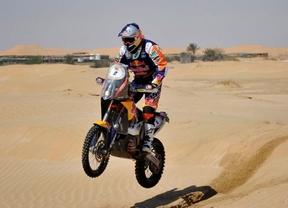 Exhibición española en Abu Dhabi: Barreda gana la etapa y Coma recupera el liderato del rally
