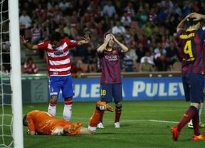 El Barça cierra su 'semana trágica' perdiendo el partido y casi la Liga ante un Granada tan luchador como el Atleti (1-0)