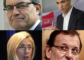 Día de citas políticas cruzadas de máximo interés: Artur Mas recibe a Pedro Sánchez y Rajoy, a Rosa Díez
