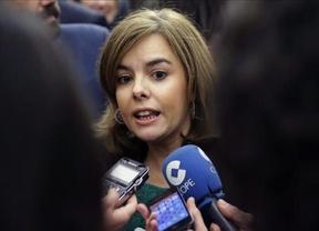 La vicepresidenta Soraya Sáenz, en momentos de controversia, presente en los Premios del Club Internacional de Prensa