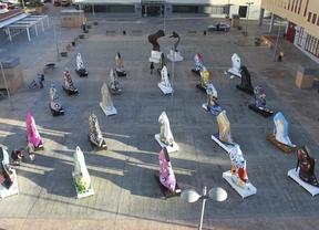 Zapatos gigantes toman España para promocionar el calzado nacional