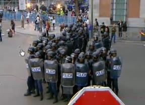 25-A: más de una decena de detenidos, hasta 14 agentes heridos y cargas dispersas desde Atocha hasta Cibeles