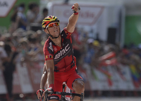 Valverde le quita unos segundos al líder Contador; Philippe Gilbert gana la etapa al sprint