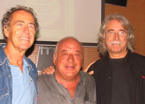 El autor, a la derecha junto a  Carles Benavent y Max Sunyer