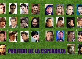 25 cantantes cambian el micro por las botas de fútbol en el 'partido de la esperanza'