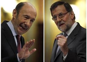 Rubalcaba, a Rajoy: 'Su historia es una patraña envuelta en una mentira que desemboca en un embuste'