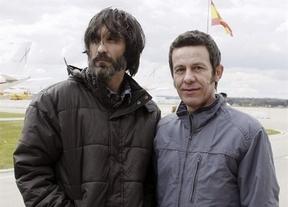 Espinosa y García Vilanova ya están en casa y guardan un prudente silencio por el resto de secuestrados