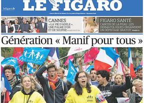 Miles de franceses protestan en París contra el matrimonio homosexual